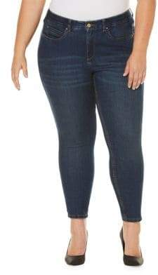 Rafaella Plus Whiskered Ankle Jeans