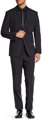 English Laundry Notch Lapel Front Button Print Jack Flat Front Pant Suit $395 thestylecure.com