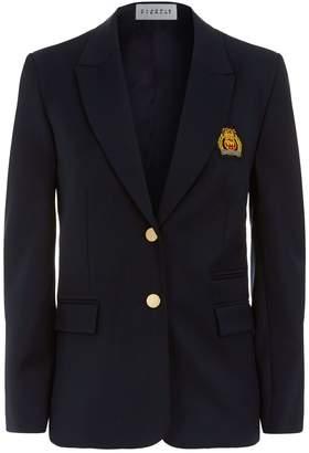 Claudie Pierlot Embroidered Crest Blazer