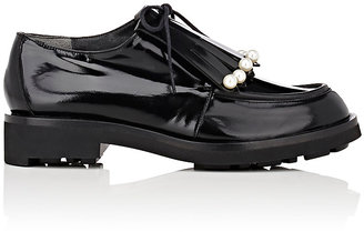 Robert Clergerie Women's Pearl-Embellished Biro Derbys $625 thestylecure.com
