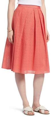1901 Eyelet A-Line Skirt (Petite)
