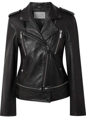 Jason Wu GREY - Leather Biker Jacket - Black