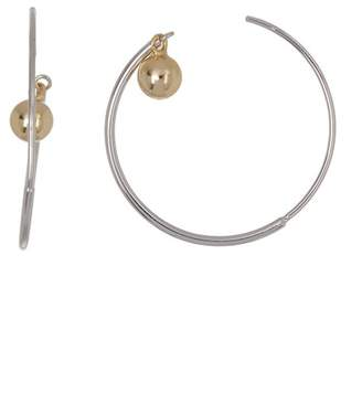Argentovivo 18K Gold Plated Sterling Silver Ball 30mm Hoop Earrings