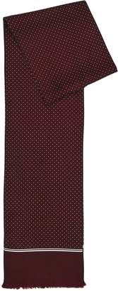 Reiss Our last order date for Christmas has now passed NEPTUNE SILK POLKA DOT SCARF Bordeaux