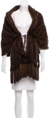 Pologeorgis Knitted Mink Fur Shrug