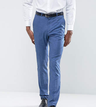 Asos DESIGN TALL Wedding Slim Suit Pant in Blue Tonic