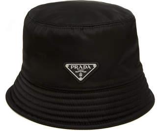 Prada Logo-Appliquéd Nylon Bucket Hat