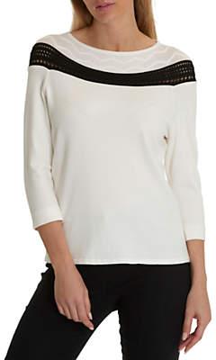 Betty Barclay Fine Knit Jumper, Cream/Black
