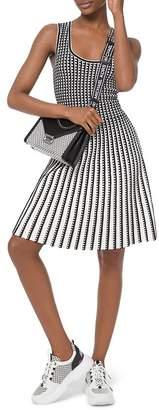 MICHAEL Michael Kors Pleated Geo-Pattern A-Line Dress