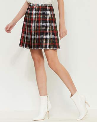 Blugirl Plaid Pleated Mini Skirt