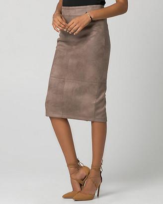 Le Château Suede-Like Midi Pencil Skirt