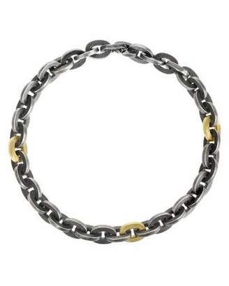 Todd Reed Sterling Silver Link Bracelet with 18K Accents