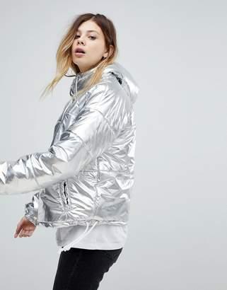 Noisy May Metallic Overhead Jacket