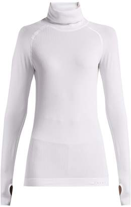 Falke Roll-neck cable-knit performance top