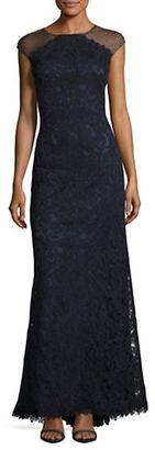 Tadashi Shoji Embroidered Mesh Gown $559 thestylecure.com