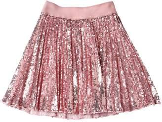 MonnaLisa Sequined Plisse Tulle Skirt