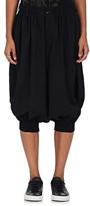 Yohji Yamamoto Women's Wool Drop-Rise Crop Pants $840 thestylecure.com