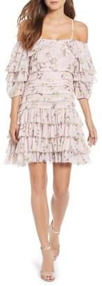Kas Mina Ruffled Cold Shoulder Dress