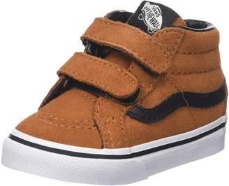 6fe6f50f63 Vans Toddlers Sk8-Mid Reissue V (Suede) Glazed Ginger Black Skate Shoe