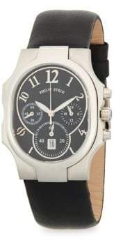 Philip Stein Teslar Stainless Steel Classic Leather-Strap Watch