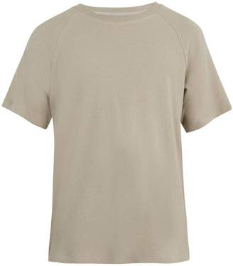 Fanmail Crew-neck French terry-towelling cotton T-shirt