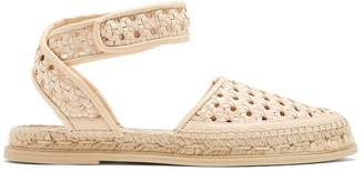 Stella McCartney Woven-wicker espadrille sandals