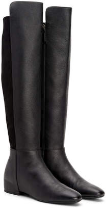 Aquatalia Uli Over-The-Knee Waterproof Leather & Suede Boot