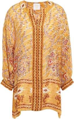 Anna Sui Printed Fil Coupe Silk-blend Tunic