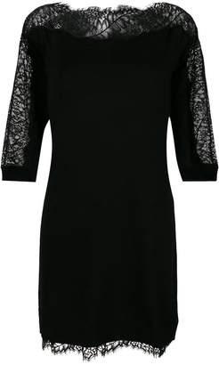 Twin-Set lace insert mini dress