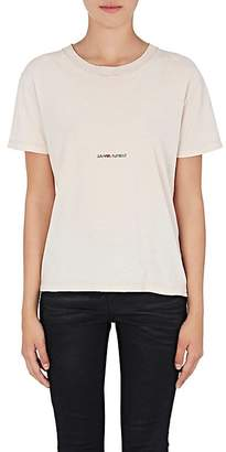 Saint Laurent Women's Distressed Cotton T-Shirt