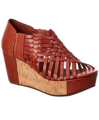 Chocolat Blu Web Wedge Leather Sandal