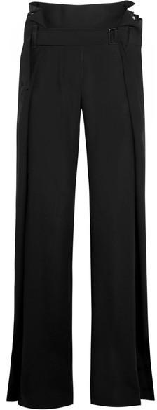 Ann DemeulemeesterAnn Demeulemeester - Belted Wool-twill Wide-leg Pants - Black