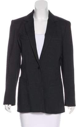 Oscar de la Renta Oscar by Notched-Lapel Structured Blazer