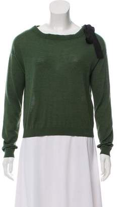 RED Valentino Wool-Blend Long Sleeve Sweater