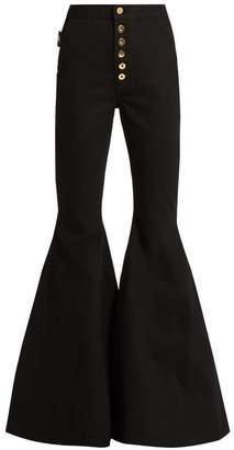 Ellery - Ophelia High Rise Flared Jeans - Womens - Black