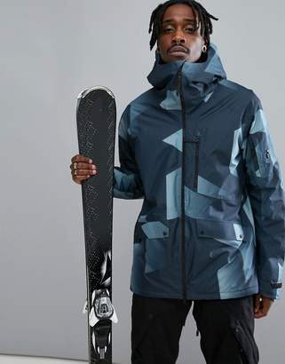 Peak Performance Hakuba Print Ski Jacket In Blue