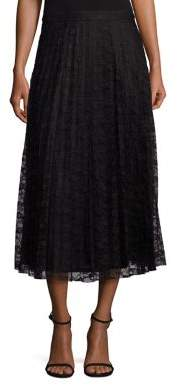 Saks Fifth Avenue COLLECTION Lace Pleated Maxi Skirt