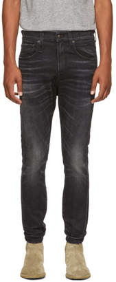 R 13 Black Washed Jeans