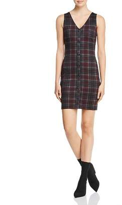Aqua Plaid Button-Front Dress - 100% Exclusive
