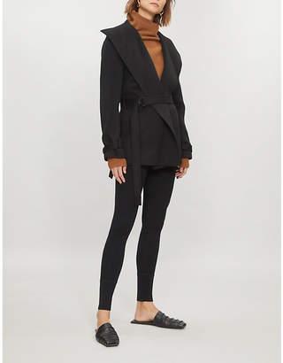 331f6288a9f Joseph Womens Black New Lima Wool and Cashmere-Blend Coat