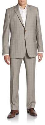 Saks Fifth Avenue Slim-Fit Tonal Plaid Wool Suit