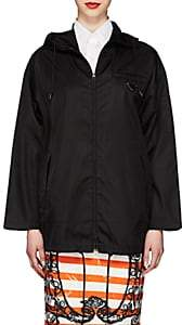 Prada Women's Tech-Gabardine Hooded Jacket - Black