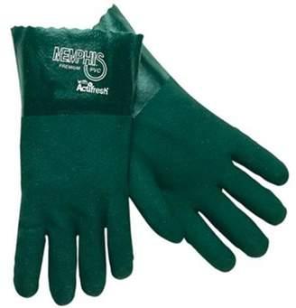 Memphis Glove MCR 12.1112 Green 12 in. Gauntlet Jersey Lined Sandy