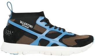 Valentino Sound High Mesh Sneakers