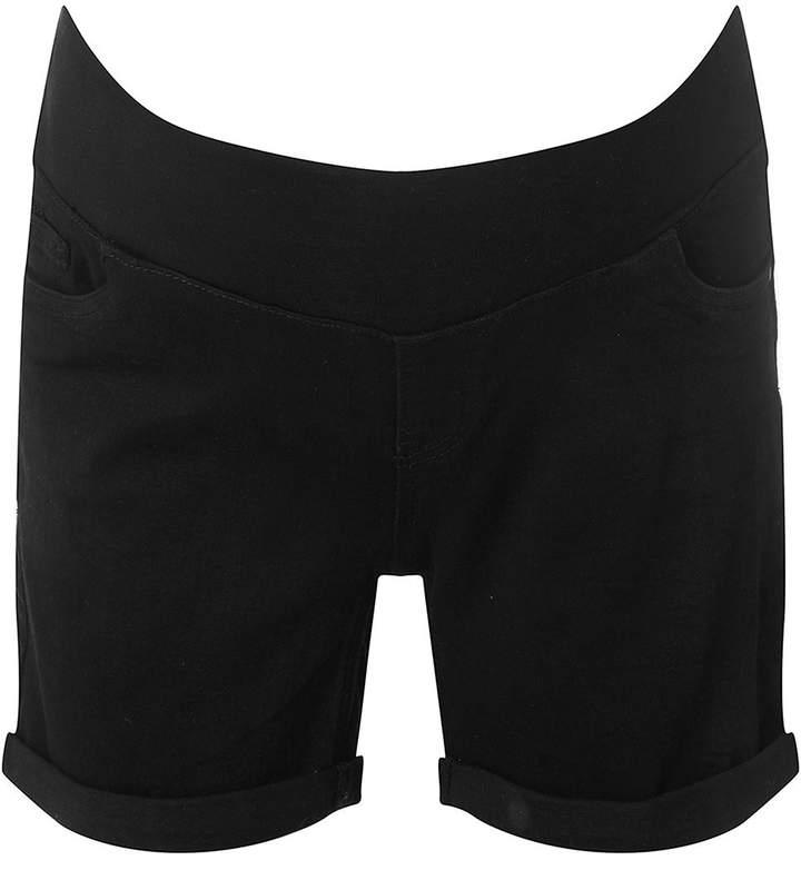 **Maternity Black Under Bump Shorts