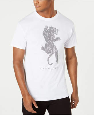 Sean John Men Studded Panther T-Shirt