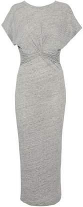 IRO Twist-Front Cotton And Modal-Blend Jersey Midi Dress