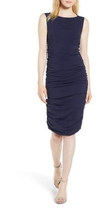 Kenneth Cole New York Shirred Sheath Dress
