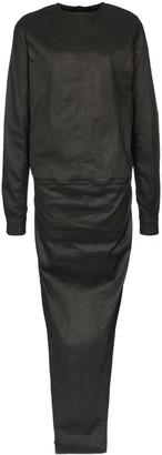 Rick Owens double-layer maxi dress