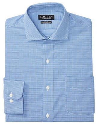 Ralph Lauren GREEN Slim-Fit Checked Estate Dress Shirt